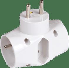 Greenlux Rozbočka do zásuvky trojnásobná bílá 230V GXOS060 R02-1 Greenlux