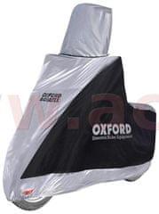 Oxford plachta na motorku Aquatex Highscreen Scooter provedení pro vysoké plexi, OXFORD (černá/stříbrná, uni velikost) CV216