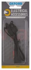 Oxford prodloužený kabel s očkovými klipy a pojistkou, OXFORD (konektor SAE, délka kabelu 0,5 m) EL105