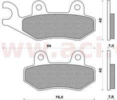 Newfren brzdové destičky (směs OFF ROAD ATV ORGANIC) NEWFREN (2 ks v balení) FD0122BV