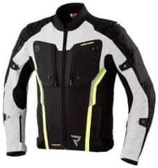 Rebelhorn Moto bunda REBELHORN BORG černo/šedo/fluo žlutá (Velikost: 3XL) 2H594590