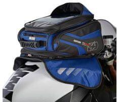 Oxford tankbag na motocykl M30R, OXFORD (černý/modrý, s magnetickou základnou, objem 30 l) OL247