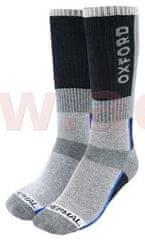 Oxford ponožky Thermal, OXFORD (šedé/černé/modré) (Velikost: L (44 - 49)) M168-140