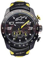 Alpinestars hodinky TECH RACE CHRONO, ALPINESTARS (černá/žlutá, kožený pásek) 1017-96073-1050-TU