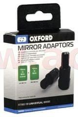 Oxford redukce závitu zp. zrcátek M10 na M8, OXFORD (černá, pár, 1x pravostranný a 1x levostranný závit M8) OX580