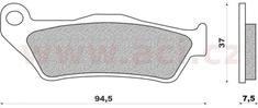 Newfren brzdové destičky (směs OFF ROAD DIRT RACE SINTERED) NEWFREN (2 ks v balení) FD0186X01