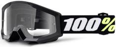 100% brýle Strata Mini Gron Black, 100% dětské (čiré plexi) 50600-001-02