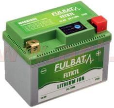 Fulbat lithiová baterie LiFePO4 YTX7L-BS FULBAT 12V, 2,4Ah, 170A, hmotnost 0,45 kg, 113x70x85 560504