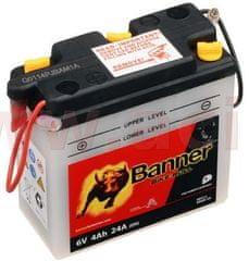 Banner baterie 6V, 6N4B-2A, 4Ah, 24A, BANNER Bike Bull 102x48x96 00412