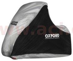 Oxford plachta na skútry s př. nápravou Aquatex, OXFORD (černá/stříbrná, uni velikost) CV215