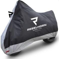 Rebelhorn Plachta na motorku REBELHORN COVER II černo/stříbrná (Velikost: S) 2H235757