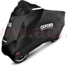 Oxford plachta na skútry s přední nápravou Protex Stretch Outdoor s klimatickou membránou, OXFORD (černá, uni velikost) CV164