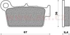 Newfren brzdové destičky (směs OFF ROAD DIRT RACE SINTERED) NEWFREN (2 ks v balení) FD0349X01