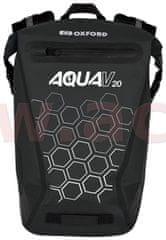 Oxford vodotěsný batoh AQUA V20, OXFORD (černá, objem 20 L) OL695