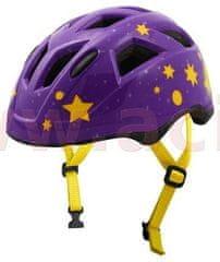 Oxford cyklo přilba STARS JUNIOR, OXFORD, dětská (fialová/žlutá) STARSL
