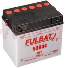 Fulbat baterie 12V, 53034, 30Ah, 300A, levá, konvenční 186x130x171, FULBAT (vč. balení elektrolytu) 550546