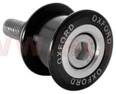 Oxford rolny - adaptéry kyvné vidlice pro osazení zadního stojanu, OXFORD (šroub M10, alu slitina, protočné provedení, černé) OX811