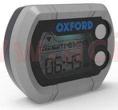 Oxford hodiny a teploměr na motocykl voděodolné, OXFORD (stříbrná) OX562