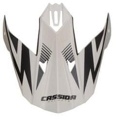 Cassida kšilt pro přilby Cross Cup One, CASSIDA - ČR (bílá perleť/černý) PEAK WHITE SC-15