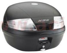 Kappa topcase, KAPPA (35L, černý nelakovaný + kouřová odrazka) K35NT