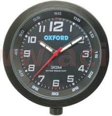 Oxford analogové hodiny, OXFORD (černý rámeček, luminiscenční ciferník) OX559