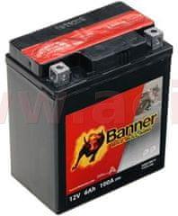Banner baterie 12V, YTX7 l-BS, 6Ah, 100A, BANNER Bike Bull AGM 114x71x131 50614
