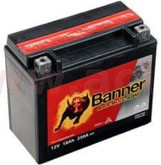 Banner baterie 12V, YTX20 l-BS, 18Ah, 250A, BANNER Bike Bull AGM 175x87x155 51821