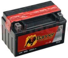 Banner baterie 12V, YTX7A-BS, 6Ah, 105A, BANNER Bike Bull AGM 150x87x95 50615