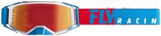 Fly Racing brýle ZONE PRO 2019, FLY RACING (červené/bílá/modrá, modré chrom plexi) 37-5183