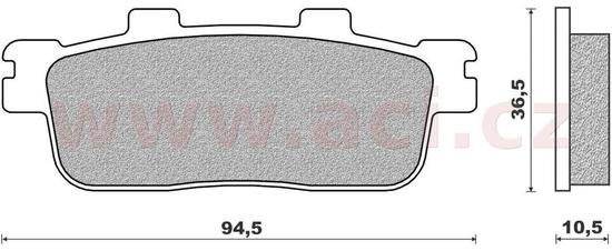 Newfren brzdové destičky (směs SCOOTER ELITE ORGANIC) NEWFREN (2 ks v balení) FD0417BE