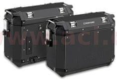 Kappa sada bočních kufrů K-MISSION - 36l, KAPPA (černé, hliník, 49,5x38,7x24,6 cm) KMS36BPACK2