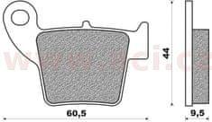 Newfren brzdové destičky (směs OFF ROAD DIRT RACE SINTERED) NEWFREN (2 ks v balení) FD0329X01