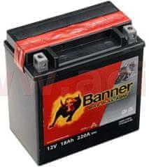 Banner baterie 12V, YTX20CH-BS, 18Ah, 220A, BANNER Bike Bull AGM 150x87x161 51822