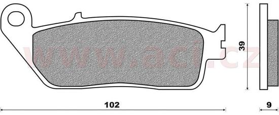 Newfren brzdové destičky (směs SCOOTER ELITE SINTERED) NEWFREN (2 ks v balení) FD0325SE