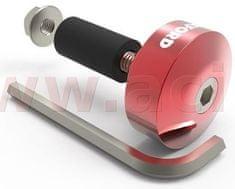 Oxford závaží řídítek Bar Ends 1 s redukcí pro vnitřní průměr 13 a 18 mm (vnější 22 a 28,6 mm), OXFORD (červený elox, pár) OX590