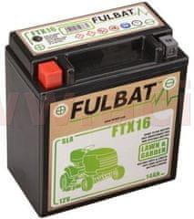 Fulbat baterie 12V, FTX16 SLA (Husquarna), 14Ah, 230A, levá, bezúdržbová MF AGM, 150x87x161, FULBAT (aktivovaná ve výrobě) 550763