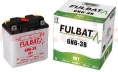 Fulbat baterie 6V, 6N6-3B, 6Ah 50A, konvenční 99x57x111 FULBAT (vč. balení elektrolytu) 6N6-3BN