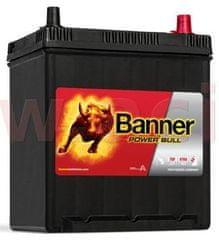 Banner 40Ah baterie, 330A, pravá, úzké póly BANNER Power Bull 187x137x204(226) P4025