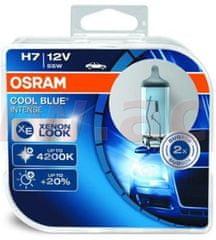 Osram žárovky H7 12V 55W (patice PX26d) OSRAM COOL BLUE INTENSE (2 ks v boxu) 64210CBI-HCB