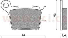 Newfren brzdové destičky (směs OFF ROAD DIRT RACE SINTERED) NEWFREN (2 ks v balení) FD0348X01