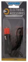 Oxford prodloužený kabel se zásuvkou 12V standard, OXFORD (konektor SAE, délka kabelu 0,5 m) EL106