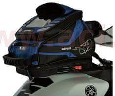 Oxford tankbag na motocykl Q4R QR, OXFORD (černý/modrý, s rychloupínacím systémem na víčka nádrže, objem 4 l) OL292