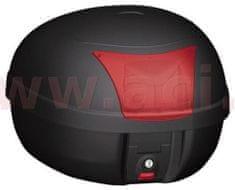 Kappa MONOLOCK TopCase - 28l, KAPPA (černý, červená odrazka, vč. plotny K628) K28BAS