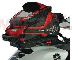 Oxford tankbag na motocykl Q4R QR, OXFORD (černý/červený, s rychloupínacím systémem na víčka nádrže, objem 4 l) OL291