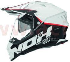 Nox přilba Cross N312 Crow, NOX (bílá) (Velikost: XS) CASQN312CROWBLANC