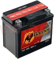 Banner baterie 12V, YTX5 l-BS, 4Ah, 80A, BANNER Bike Bull AGM 114x71x106 50412