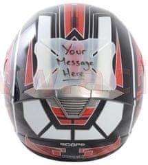 Oxford protektor laku přilby Helmet Bumper Message, OXFORD (možnost napsání vlastního textu) OX532