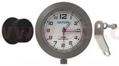 Oxford analogové hodiny, OXFORD (stříbrný rámeček, luminiscenční ciferník) OX560