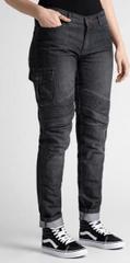 Rebelhorn Dámské moto kalhoty BROGER OHIO jeans washed black (Velikost: 32) 2H101680