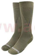 Oxford ponožky merino vlna, kompresní, OXFORD (khaki) (Velikost: L) M168-138